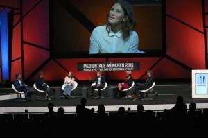 Der TV-Gipfel, moderiert von Jeannine Michaelsen (Foto: MEDIENTAGE MÜNCHEN)